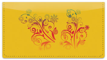 Swirl Flower Checkbook Cover