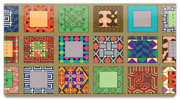 Quilt Pattern Checkbook Cover