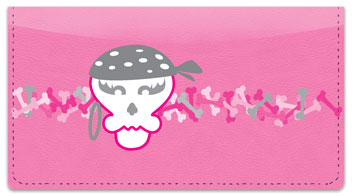 Girly Skull Checkbook Cover