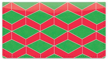 Optical Illusion Checkbook Cover