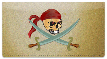 Pirate Checkbook Cover