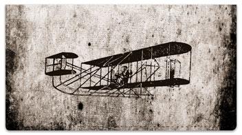 Vintage Plane Checkbook Cover