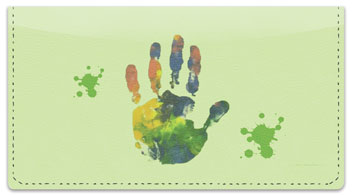 Hand & Footprint Checkbook Cover