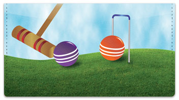 Croquet Checkbook Cover