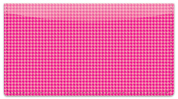 Pink Houndstooth Checkbook Cover