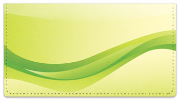 Green Wave Checkbook Cover