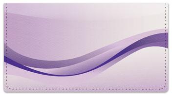 Purple Wave Checkbook Cover