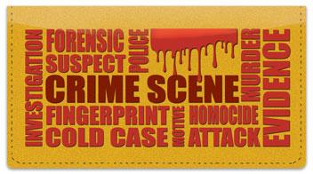 Crime Scene Checkbook Cover