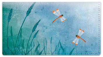 Daring Dragonfly Checkbook Cover