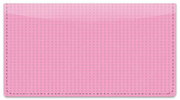 Pink & Black Checkbook Cover