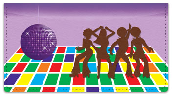 Seventies Fun Checkbook Cover