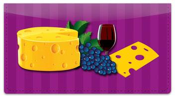 Wine & Cheese Checkbook Cover