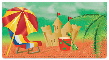 Sand Castle Checkbook Cover