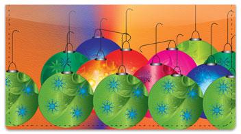 Christmas Ornament Checkbook Cover