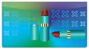 Lipstick Checkbook Cover