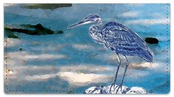 Blue Heron Checkbook Cover