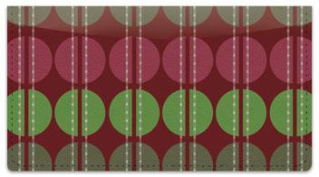 Polka Dot Split Checkbook Cover