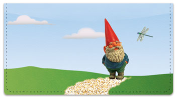 Garden Gnome Checkbook Cover