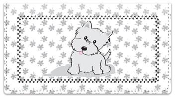 Cute Cat & Dog Checkbook Cover