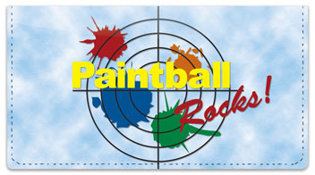 Paintball Checkbook Cover
