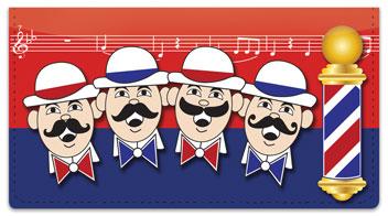 Barbershop Quartet Checkbook Cover