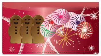 Holiday Treat Checkbook Cover