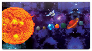 Solar System Checkbook Cover
