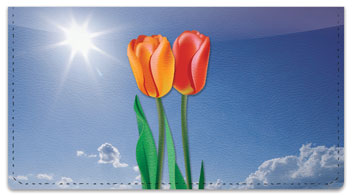 Simple Flower Checkbook Cover