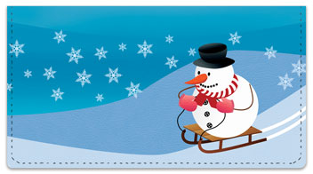 Snowman Checkbook Cover