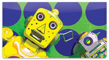 Retro Robot Checkbook Cover