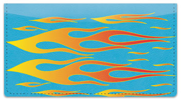 Flame Graphic Checkbook Cover