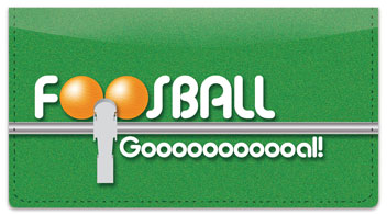 Foosball Checkbook Cover