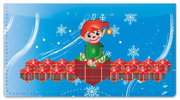 Christmas Elf Checkbook Cover