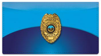 Police Checkbook Cover