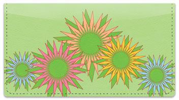 Retro Sunflower Checkbook Cover