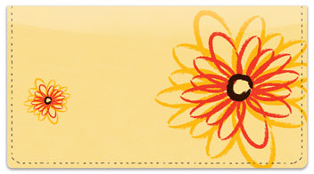 Flower Sketch Checkbook Cover