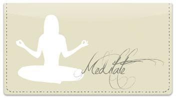 Meditation Checkbook Cover