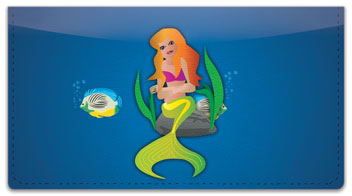 Mermaid Checkbook Cover