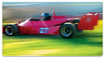 Car Racing Checkbook Cover