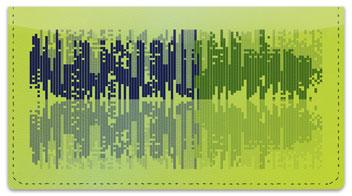 Sound Wave Checkbook Cover