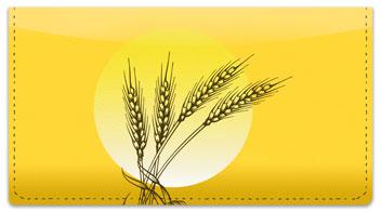 Wheat Field Checkbook Cover