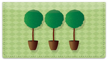 Topiary Checkbook Cover