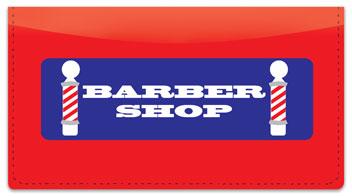 Barbershop Checkbook Cover