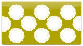 Lace Doily Checkbook Cover