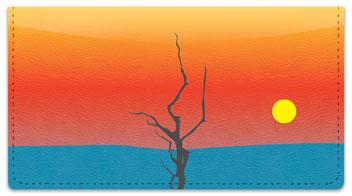 Striking Sunset Checkbook Cover