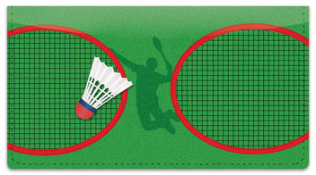 Badminton Checkbook Cover
