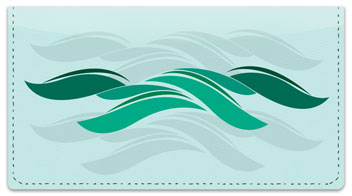 Stylized Wave Checkbook Cover