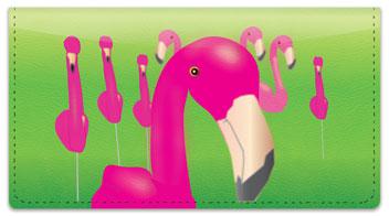 Fun Flamingo Checkbook Cover