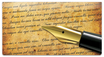 Fountain Pen Checkbook Cover