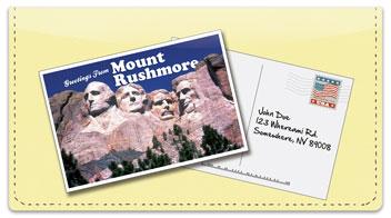 Postcard Checkbook Cover